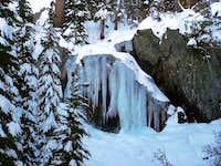 Small ice fall