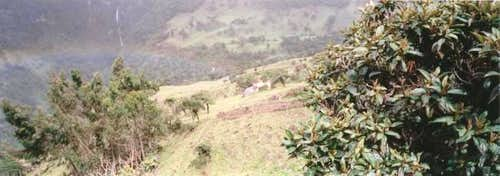 The beginning of the trail to...
