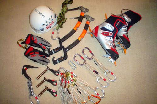 Typical Mixed Climbing Setup