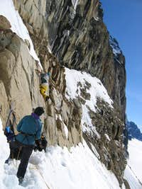 Mixed climbing in Tele Boots