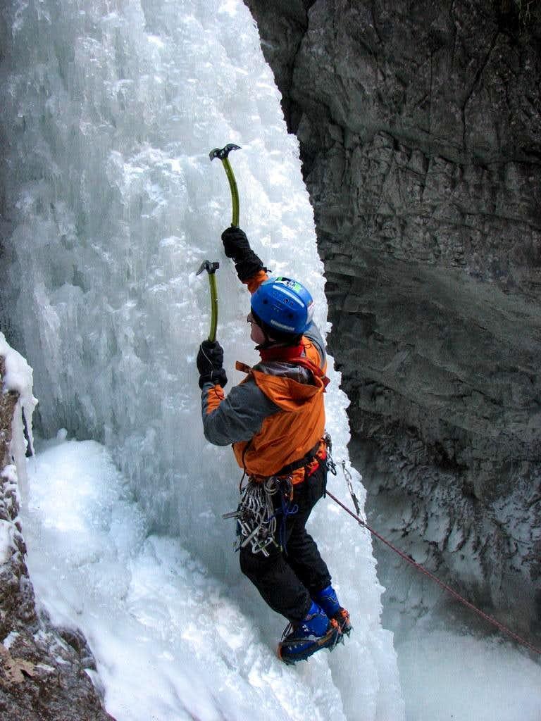 Ice climbing in Slovensky Raj