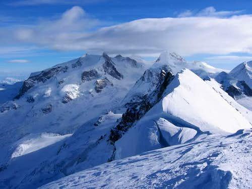 Mont-Rose vu depuis le sommet...
