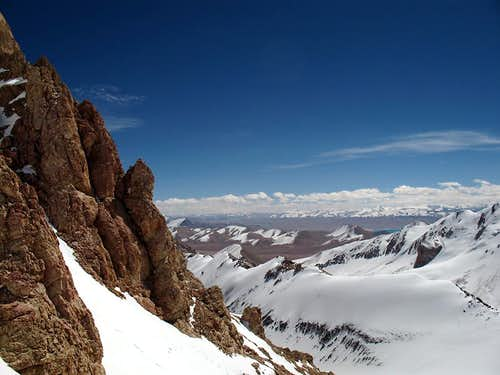Rock towers on 6300m
