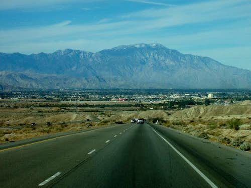 San Jacinto from Interstate 10