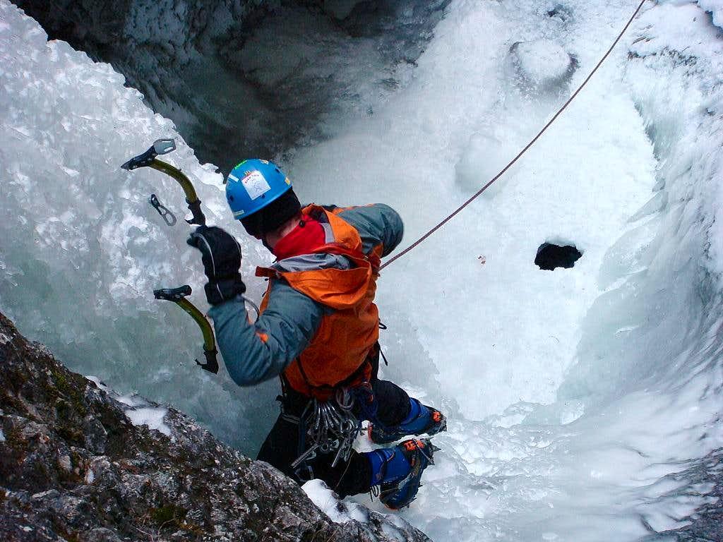 Ice-climbing in Slovensky Raj