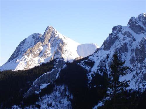 Giewont seen from trail to Ciemniak