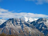 Provo Peak towers behind  Y ...