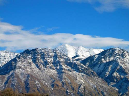 Provo Peak towers behind \'Y\'...