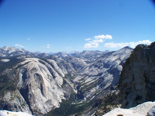 Looking east atop Half Dome