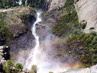 The fall from Upper Yosemite Falls