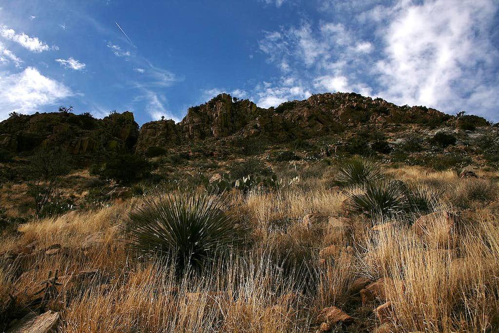 Looking up North Peak's east slope
