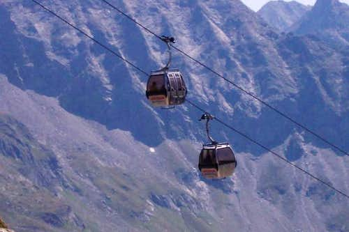 The gondola of the...