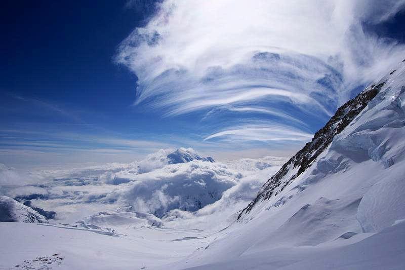 Clouds above 14k camp