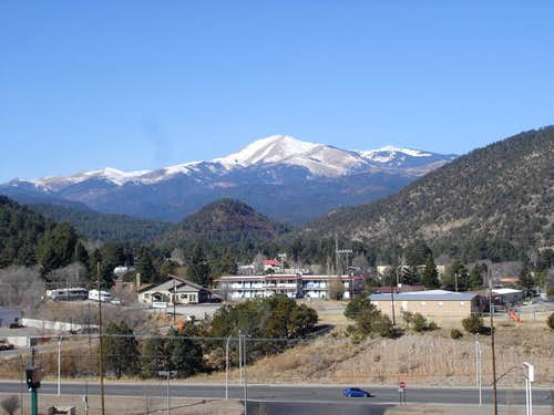 Sierra Blanca from Ruidoso