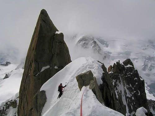 Climbing the Cosmiques Arete