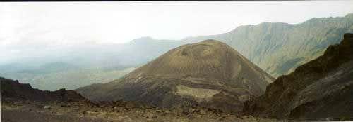 Ash cone of the Meru volcano,...