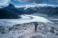 View above the glacier