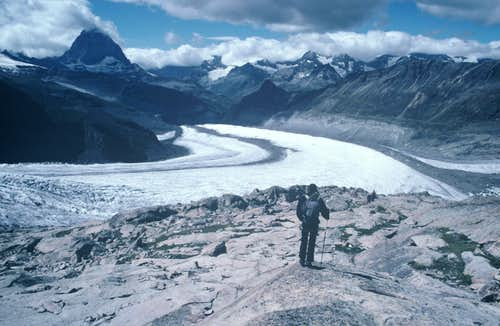 View above the glacier
