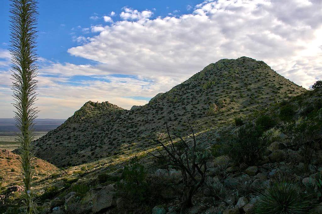 Middle Peak from east slope of North Peak