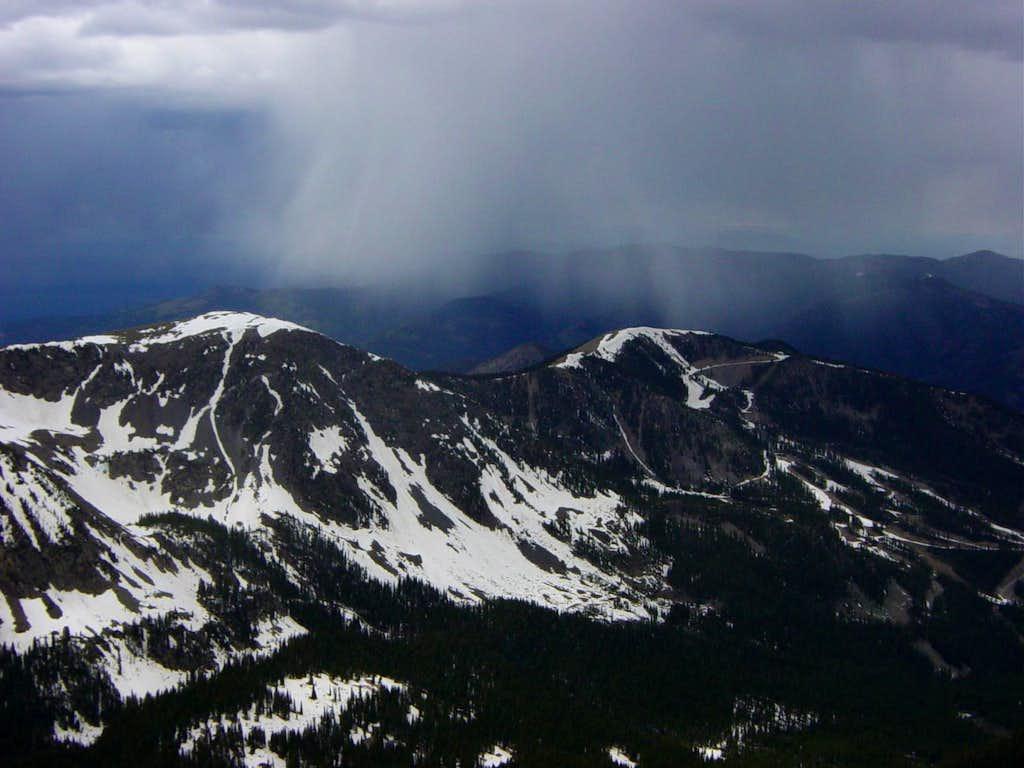 Storm approaching Wheeler Peak