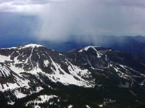 Storm approaching Wheeler Peak