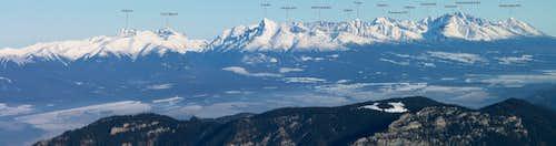 Panorama from Krúpova hoľa