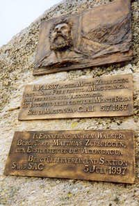 This Zurbriggen memorial can...