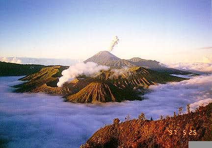 Tengger Caldera as it is seen...