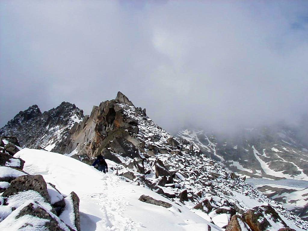 The descent route