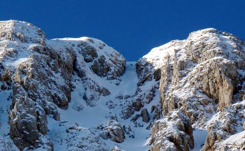 The exit from the couloir