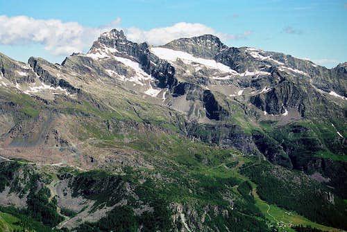 Corno Bianco from ascent on Lyskamm