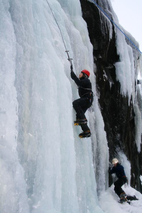 Anders climbing