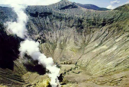 Mt. Bromo: View into the...