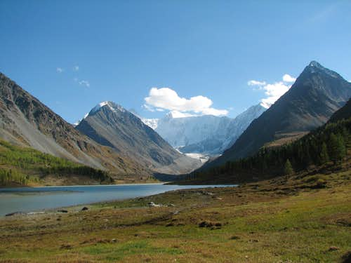 belukha north face and akkem lake