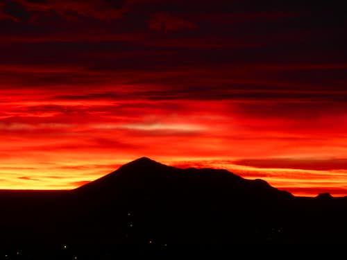 Sunset behind Picacho Peak