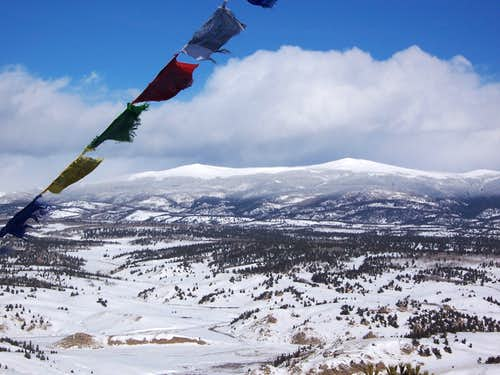 Prayer Flags and The Twin Cones