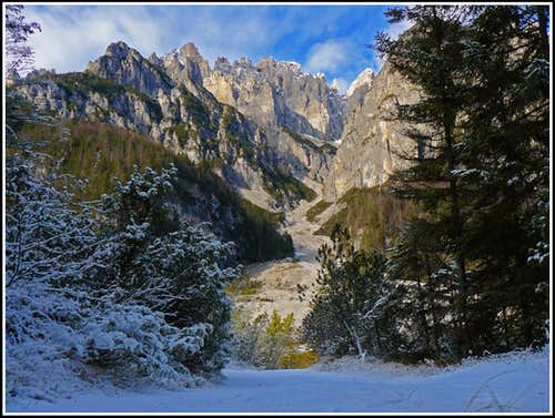 Winter in Val Montanàia