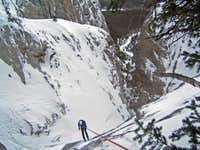 Rappeling the Top Pitch - Elliot Left Hand