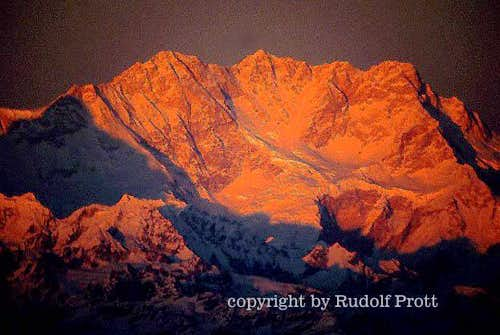Kangchenjunga in the last light