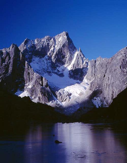 The north face of the...