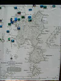 Waya Island map