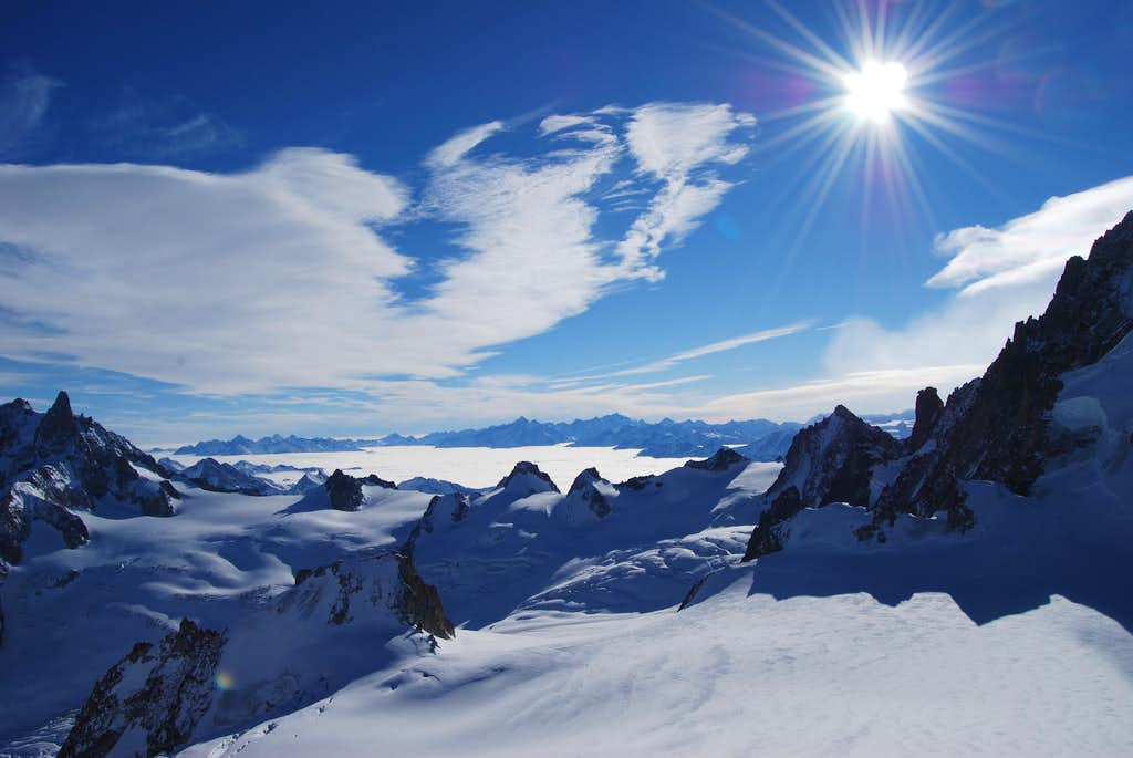 Vallee Blanche at Mont Blanc