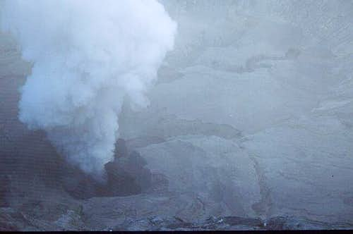 Mt. Bromo, view into the...