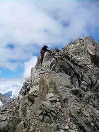 Djan Tugan just below the summit