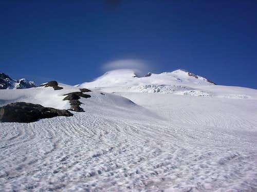 Looking towards the summit