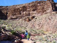 Lower section of the Bright Angel Trail