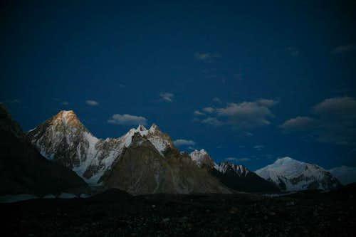 Magical views of Gasherbrum-IV and  Baltoro Glacier, Karakoram, Pakistan