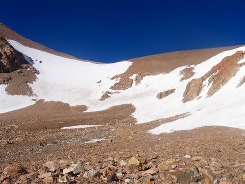 Cuesta Blanca snowfield