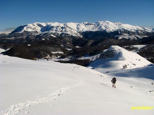 Above snow line