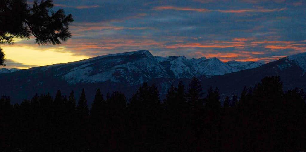 Ward Mountain Sunset